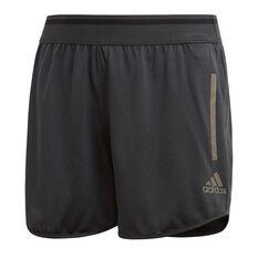 adidas Girls Training Cool Shorts Grey / Black 6, Grey / Black, rebel_hi-res