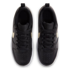 Nike Court Borough Low 2 Kids Casual Shoes, Black/Gold, rebel_hi-res