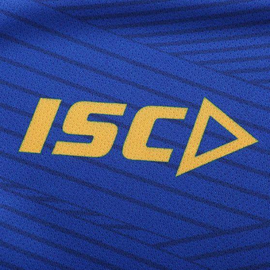 West Coast Eagles 2020 Mens Training Tee, Blue / Yellow, rebel_hi-res