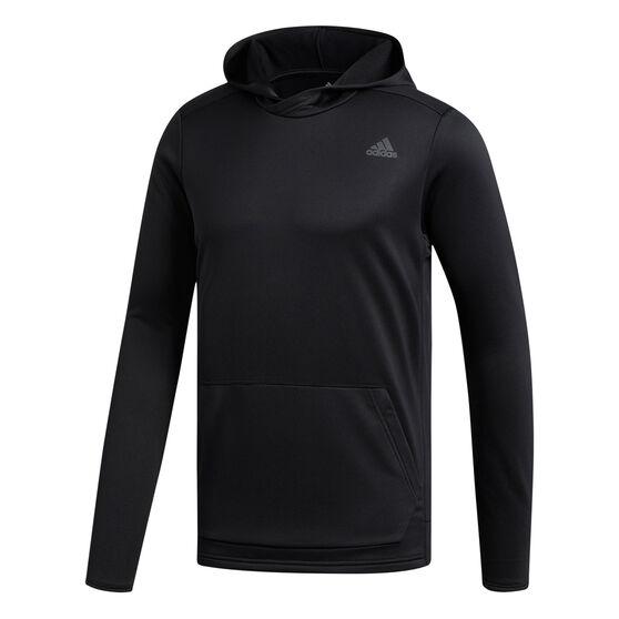 adidas Mens Own the Run Hoodie Black S, Black, rebel_hi-res