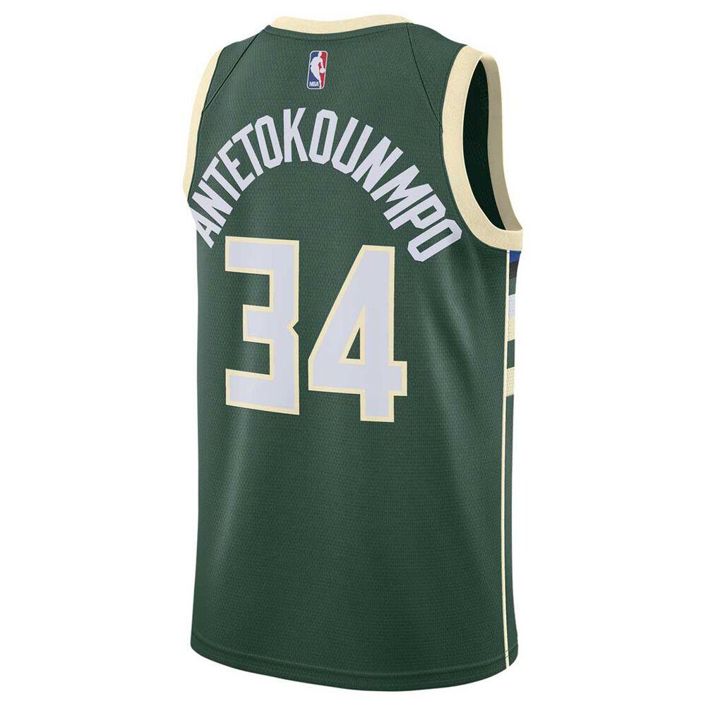 7c5d71f6b09 Nike Milwaukee Bucks Giannis Antetokounmpo 2018 Mens Swingman Jersey Green  S