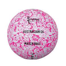 Sharni Layton Match Netball Pink / White 5, Pink / White, rebel_hi-res