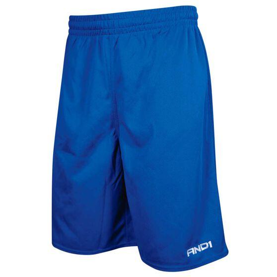 AND1 Mens No Sweat Shorts, Royal Blue, rebel_hi-res