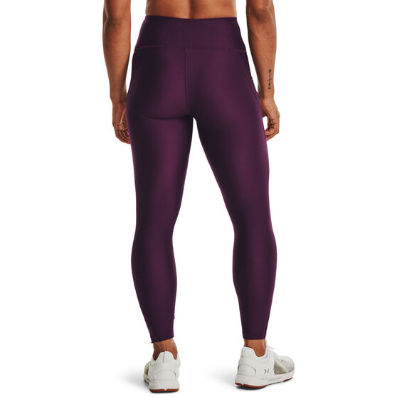 Under Armour Womens HeatGear No-Slip Waistband Gradient Ankle Tights, Purple, rebel_hi-res