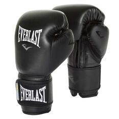 Everlast Powerlock Training Boxing Gloves Black 12oz, Black, rebel_hi-res
