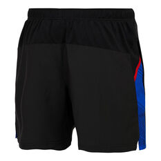 Western Bulldogs 2021 Mens Training Shorts Black S, Black, rebel_hi-res