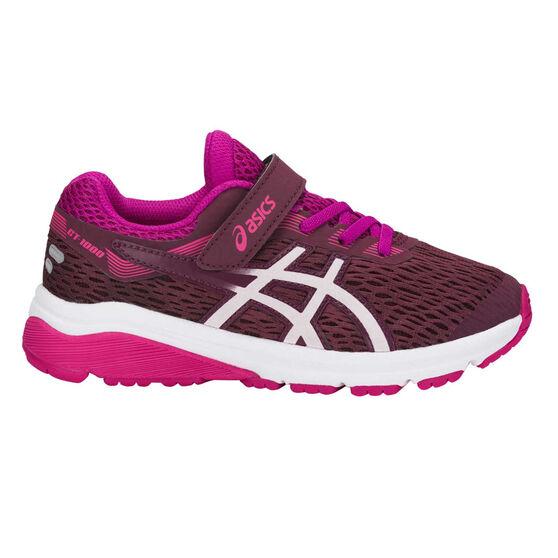 Asics GT 1000 7 Kids Running Shoes, Pink / White, rebel_hi-res