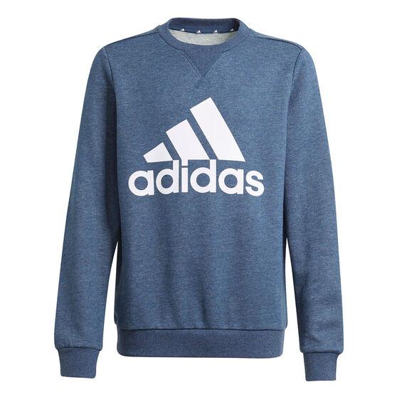 Adidas Boys VF Essential Big Logo Sweatshirt, Blue, rebel_hi-res