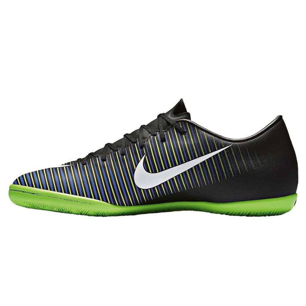 733d2fc0d Nike MercurialX Victory VI Mens Indoor Soccer Shoes Black   White US 9.5  Adult