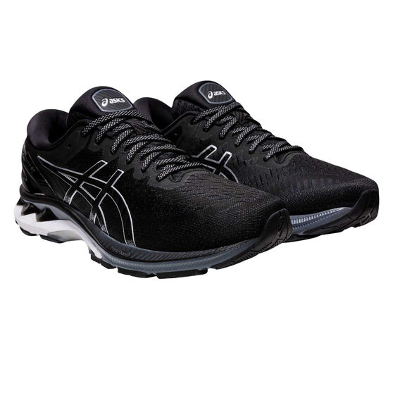 Asics GEL Kayano 27 Mens Running Shoes, Black/Silver, rebel_hi-res