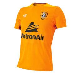 Brisbane Roar 2018 / 19 Mens Training Jersey Orange / Yellow S, Orange / Yellow, rebel_hi-res