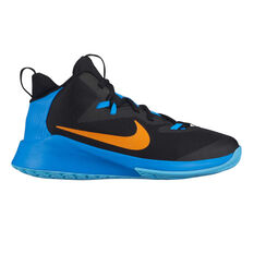 Nike Future Court Kids Basketball Shoes Black / Blue US 1, Black / Blue, rebel_hi-res