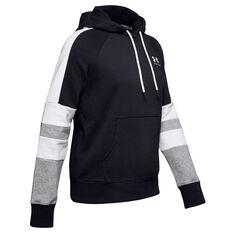 Under Armour Womens Rival Fleece LC Logo Hoodie Black XS, Black, rebel_hi-res