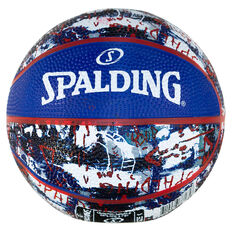 Spalding Graffiti Mini Basketball Blue/Red 1, , rebel_hi-res