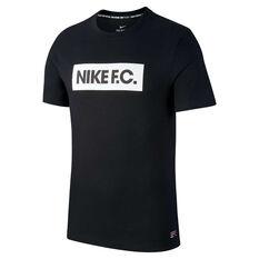 Nike FC Mens Dry Tee Black S, Black, rebel_hi-res