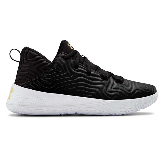 Under Armour Escalate Kids Basketball Shoes, Black / Gold, rebel_hi-res