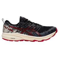 Asics Fuji Lite 2 Mens Trail Running Shoes Black/Red US 9.5, Black/Red, rebel_hi-res