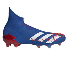 adidas Predator 20+ Football Boots, Blue/White, rebel_hi-res