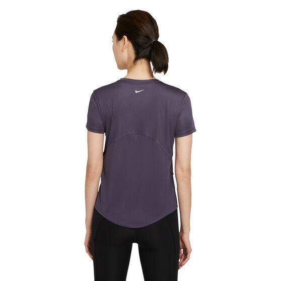 Nike Womens Miler Running Tee, Grey, rebel_hi-res