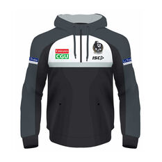 Collingwood Magpies 2020 Kids Squad Hoodie Black 8, Black, rebel_hi-res