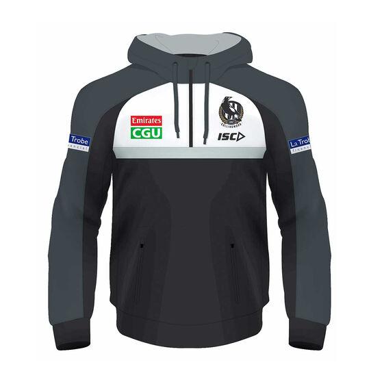 Collingwood Magpies 2020 Kids Squad Hoodie Black 8, Black, rebel_hi-res