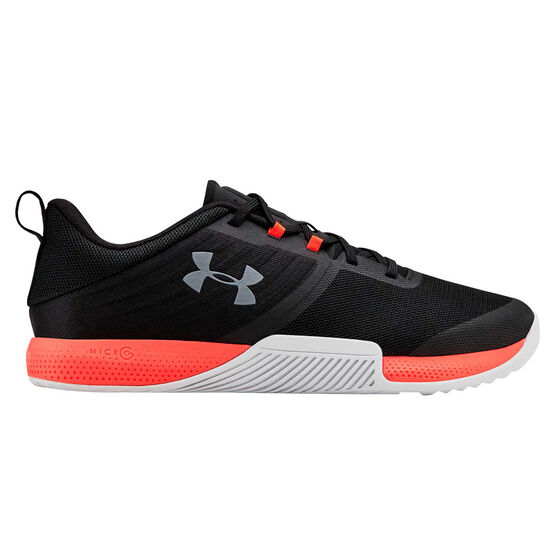 Under Armour Tribase Thrive Mens Training Shoes, Black / Red, rebel_hi-res