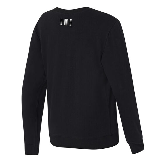 Jaggad Womens Classic Crew Neck Sweatshirt, Black, rebel_hi-res
