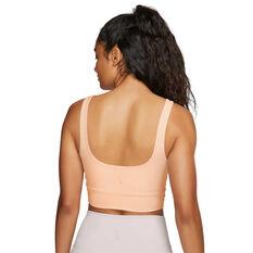 Nike Womens Yoga Luxe Infinalon Crop Top, Orange, rebel_hi-res