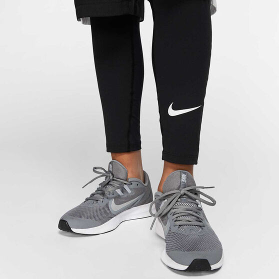 Nike Boys Pro Tights, Black / White, rebel_hi-res