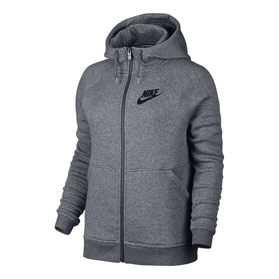 6b422178f139 Nike Womens Sportswear Rally Full Zip Hoodie Carbon XS Adult