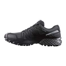 Men's Speedcross 4 Trail Shoes Black / Metal UK 7.5, Black / Metal, rebel_hi-res