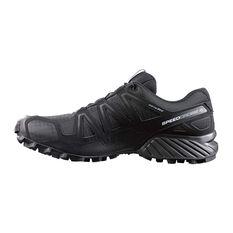 Men's Speedcross 4 Trail Shoes Black / Metal UK 7.5, Black / Metal, rebel_hi-res