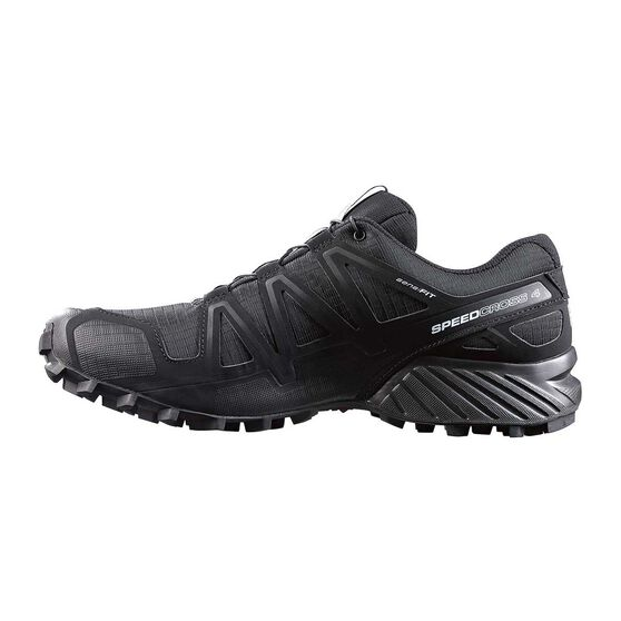 Men's Speedcross 4 Trail Shoes, Black / Metal, rebel_hi-res