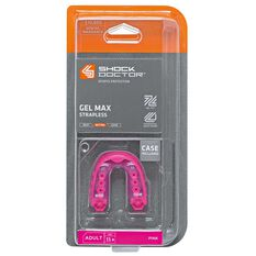 Shock Doctor Gel Max Mouthguard Pink Youth, Pink, rebel_hi-res