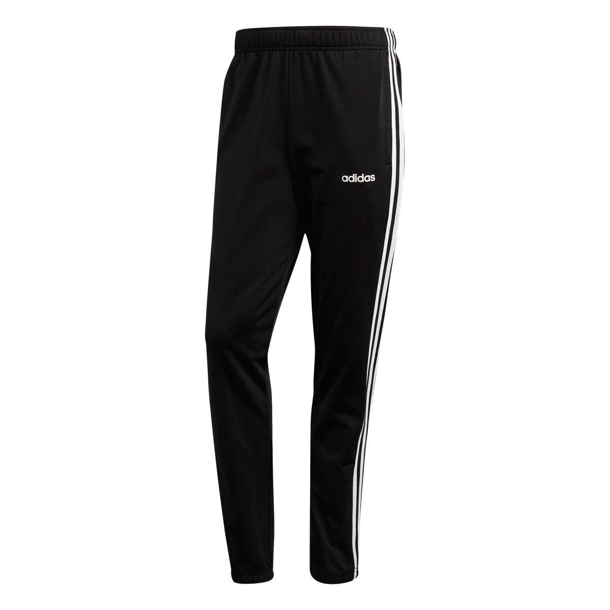 Adidas Men's Essentials 3 Stripe Tapered Tricot Pants