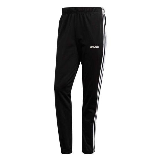 adidas Mens Essentials 3 Stripes Tracksuit, Black / White, rebel_hi-res