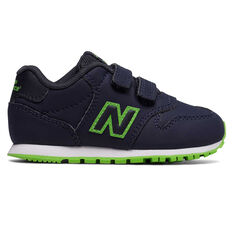 New Balance 500 Toddlers Shoes Black/Green US 5, Black/Green, rebel_hi-res