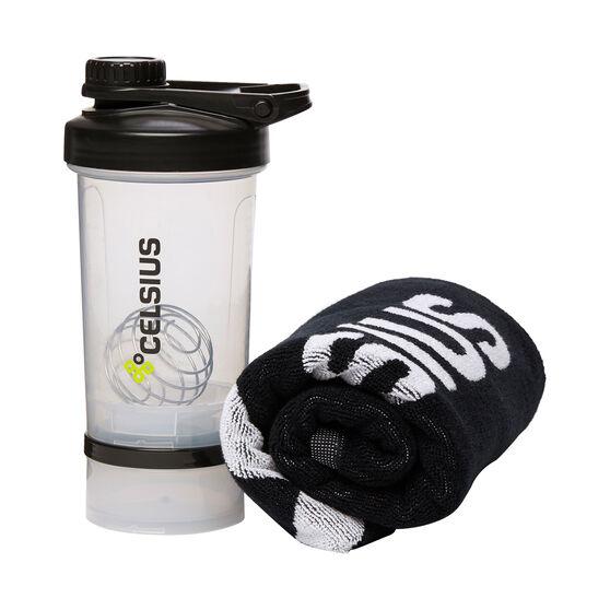 Celsius Cotton Towel and Shaker 600ml, , rebel_hi-res