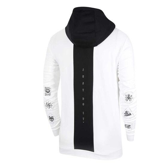 Nike Mens Dri-FIT Fleece Training Hoodie, White, rebel_hi-res