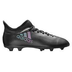 adidas X17.3 Junior Football Boots Black / Blue US 11 Junior, Black / Blue, rebel_hi-res