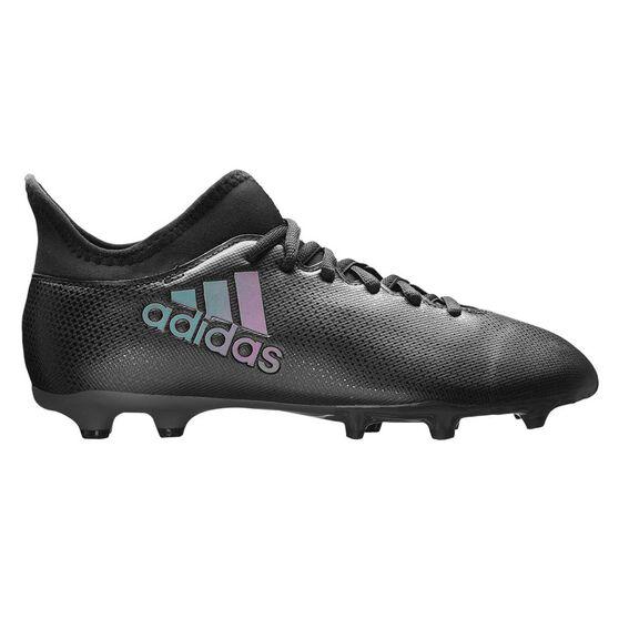 adidas X17.3 Junior Football Boots, Black / Blue, rebel_hi-res