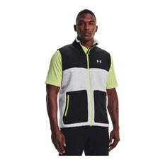 Under Armour Mens UA SweaterFleece Pile Vest Grey S, Grey, rebel_hi-res