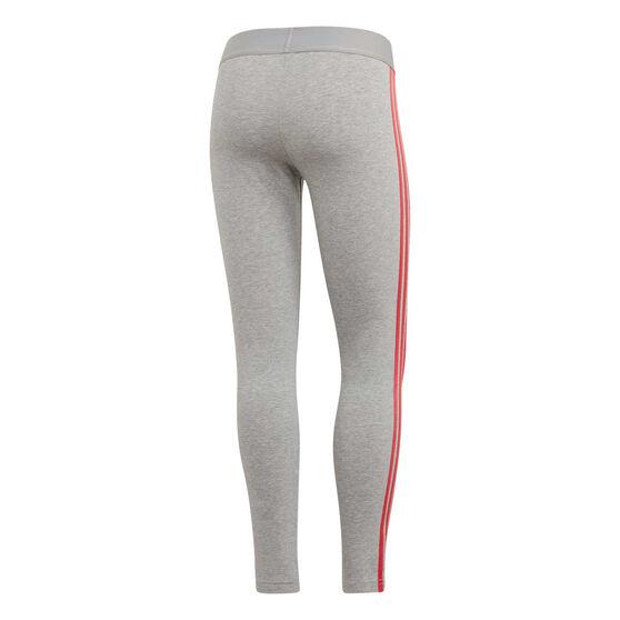 adidas Womens Essentials 3 Stripes Tights, Grey, rebel_hi-res