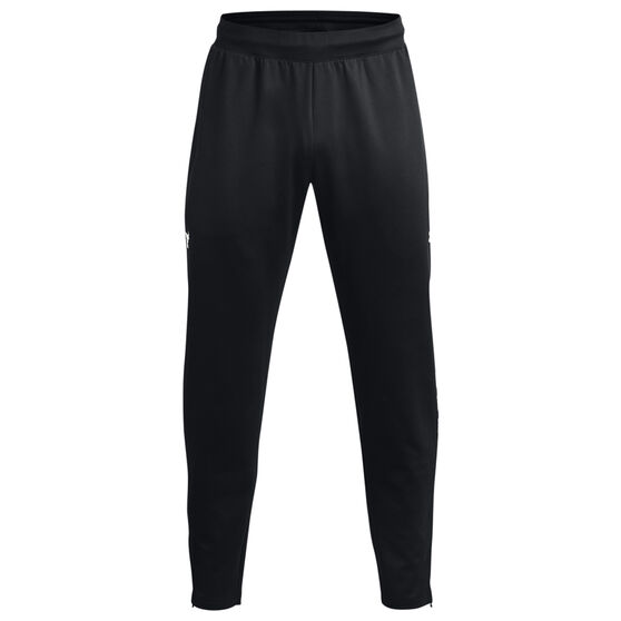 Under Armour Project Rock Mens Knit Track Pants, Black, rebel_hi-res