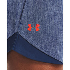 Under Armour Womens Play Up 3.0 Twist Shorts, Blue, rebel_hi-res
