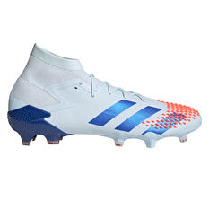 adidas Predator Mutator 20.1 Football Boots White/Blue US Mens 7 / Womens 8, White/Blue, rebel_hi-res