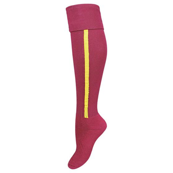Burley Brisbane Broncos Kids Football Socks, , rebel_hi-res