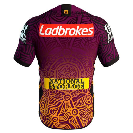 Brisbane Broncos 2020 Mens Indigenous Jersey, Multi, rebel_hi-res