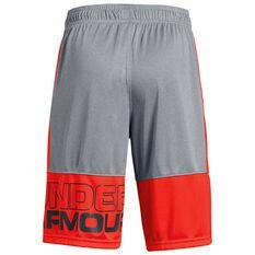 Under Armour Boys Stunt Shorts Grey XS, Grey, rebel_hi-res
