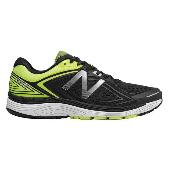New Balance 860v8 Mens Running Shoes, Black / Green, rebel_hi-res